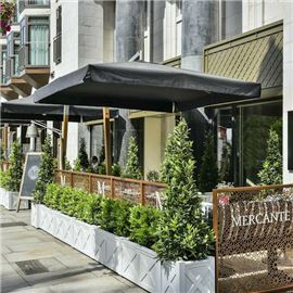 Our south facing terrace is the perfect spot to enjoy a refreshing Aperol Spritz in the Summer.